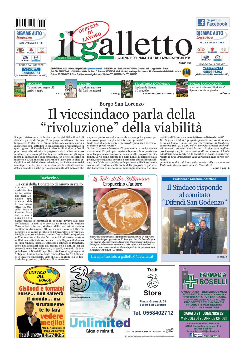 Galletto 1349 del 14 aprile by Il Galletto Giornale - issuu 74e0641bdcc