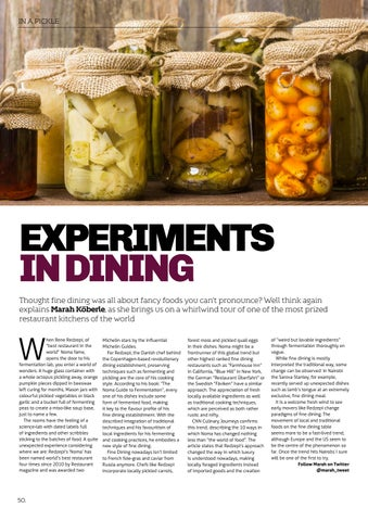 Page 52 of Experiments in Dining