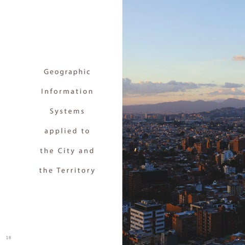 Page 18 of Geographic Information Systems applied to the City and the Territory