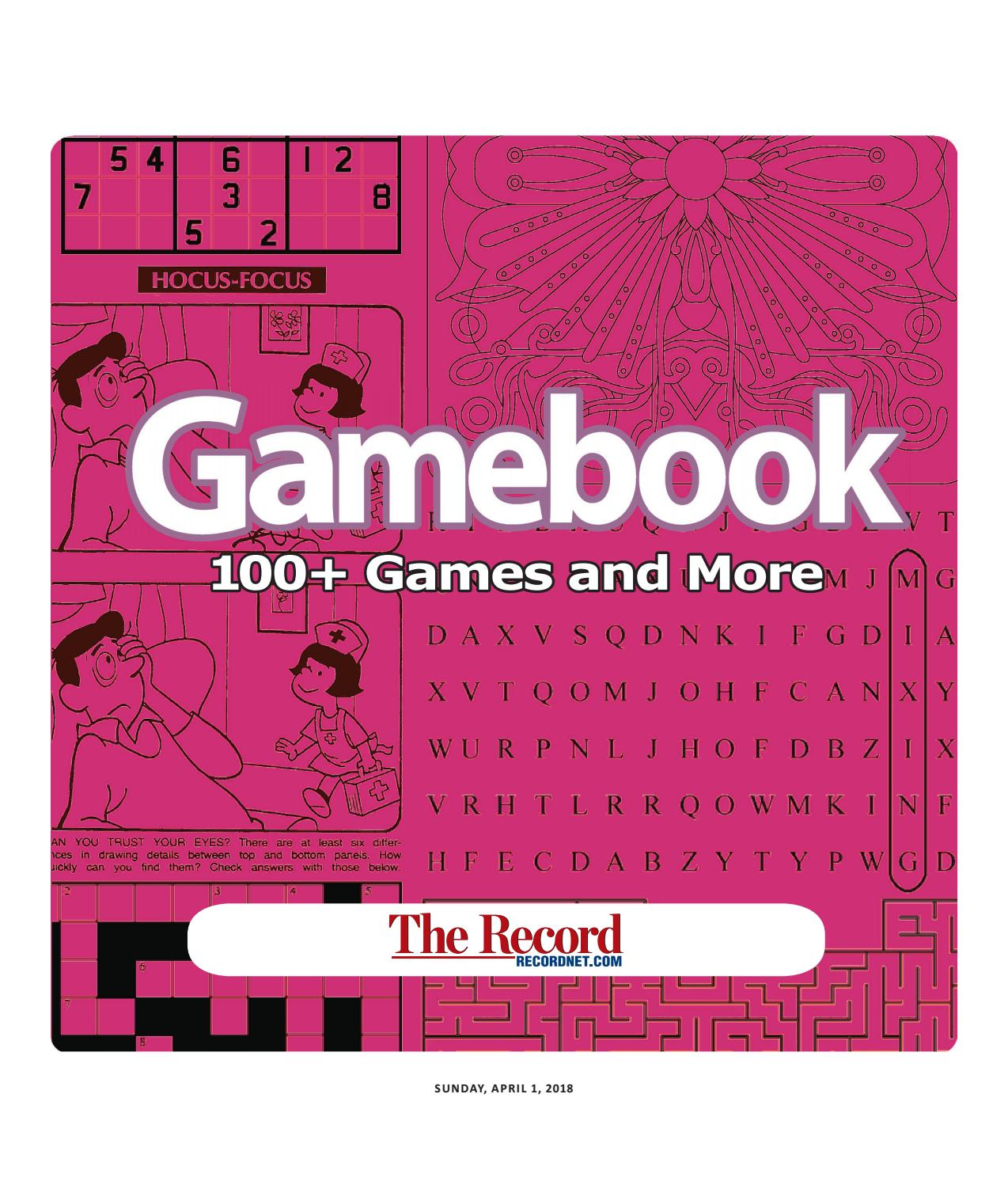 Gamebook 04 2018 By The Record Specialty Publications Issuu