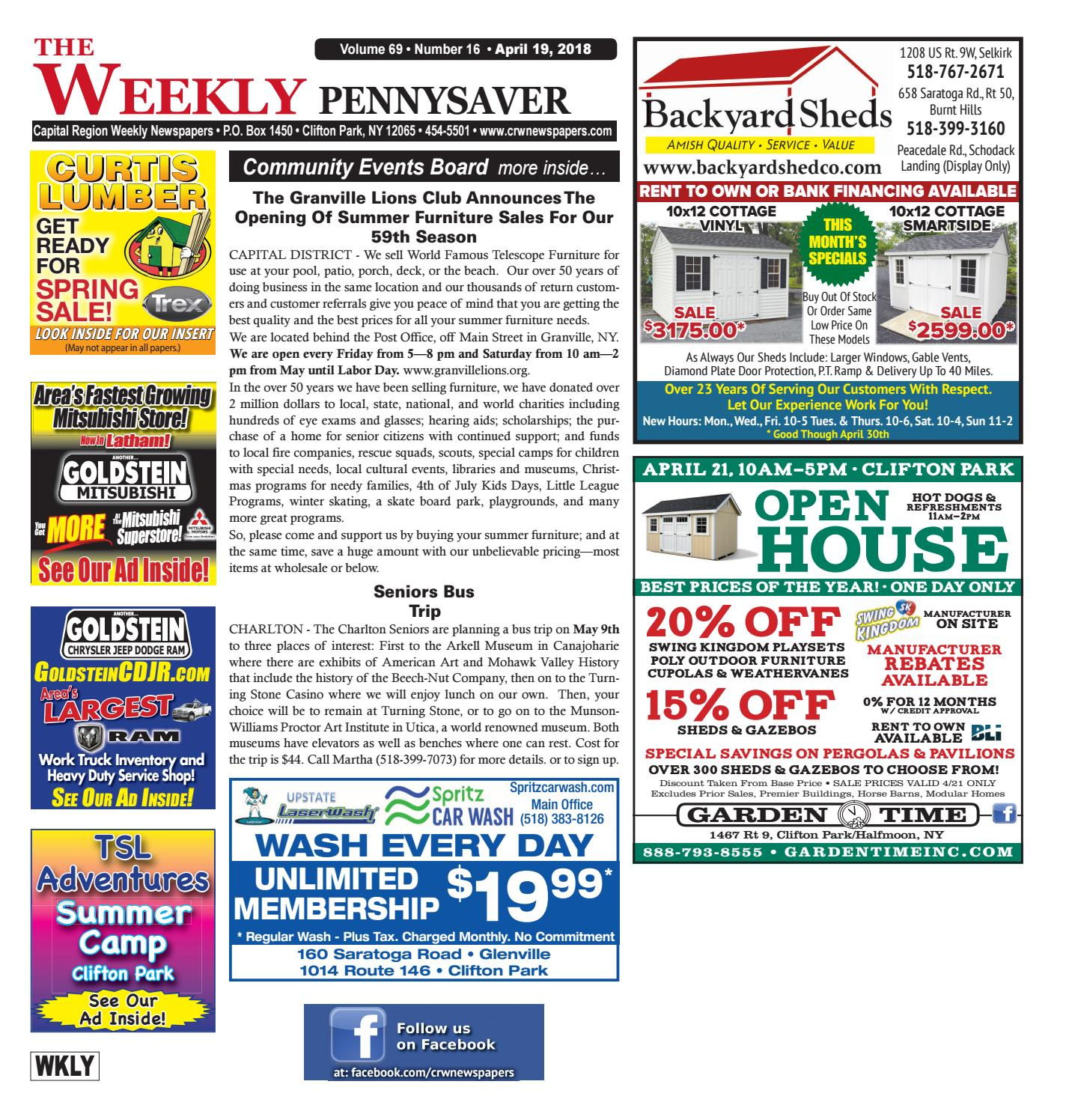 The Weekly Pennysaver 041918 by Capital Region Weekly