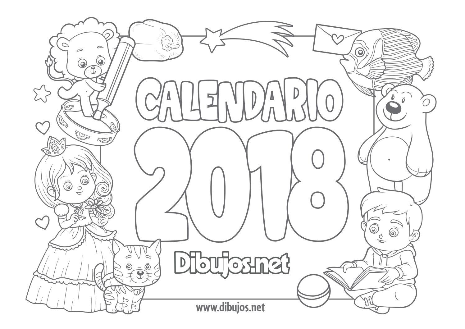 Calendario Infantil 2018 Para Colorear By Alejandro Issuu