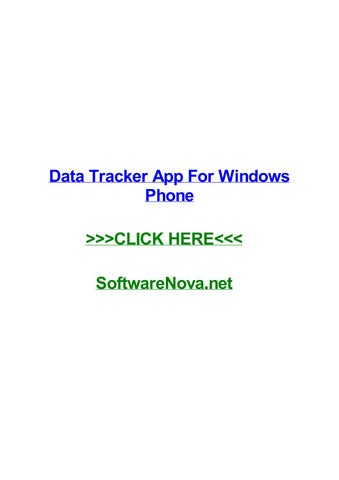windows mobile data monitor app