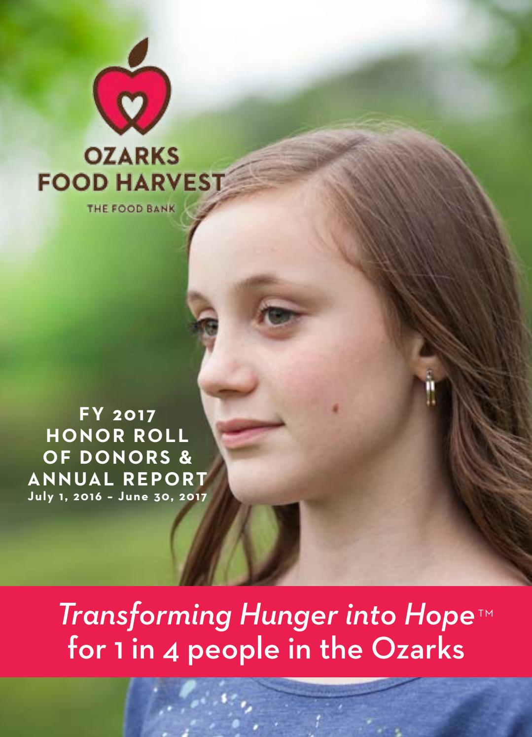 Ozarks Food Harvest FY17 Annual Report by Ozarks Food