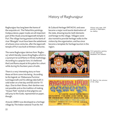 Page 22 of History of Raghurajpur