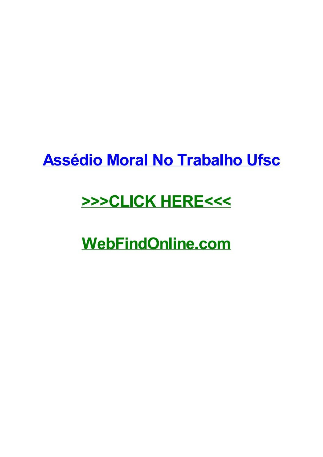 Assг Dio Moral No Trabalho Ufsc By Johncuzr Issuu