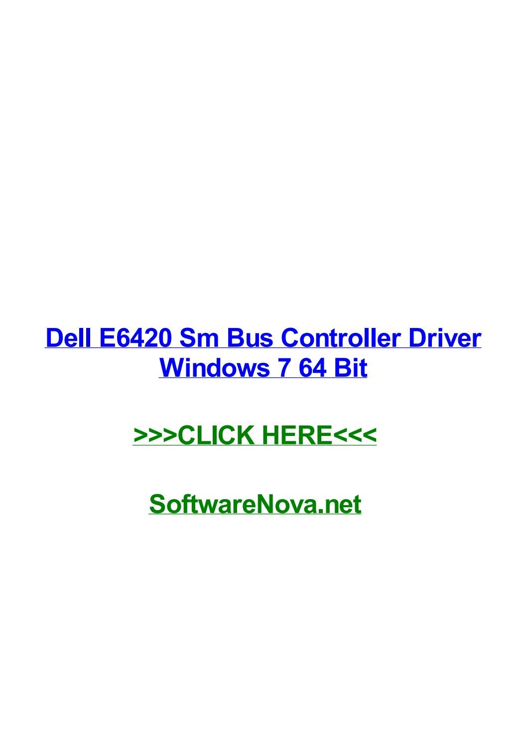 Mass storage controller driver windows 7 dell e6420