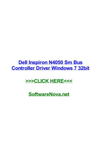 dell n4050 drivers for windows 7 32 bit free download