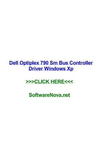 Dell optiplex 320 sm bus controller driver.