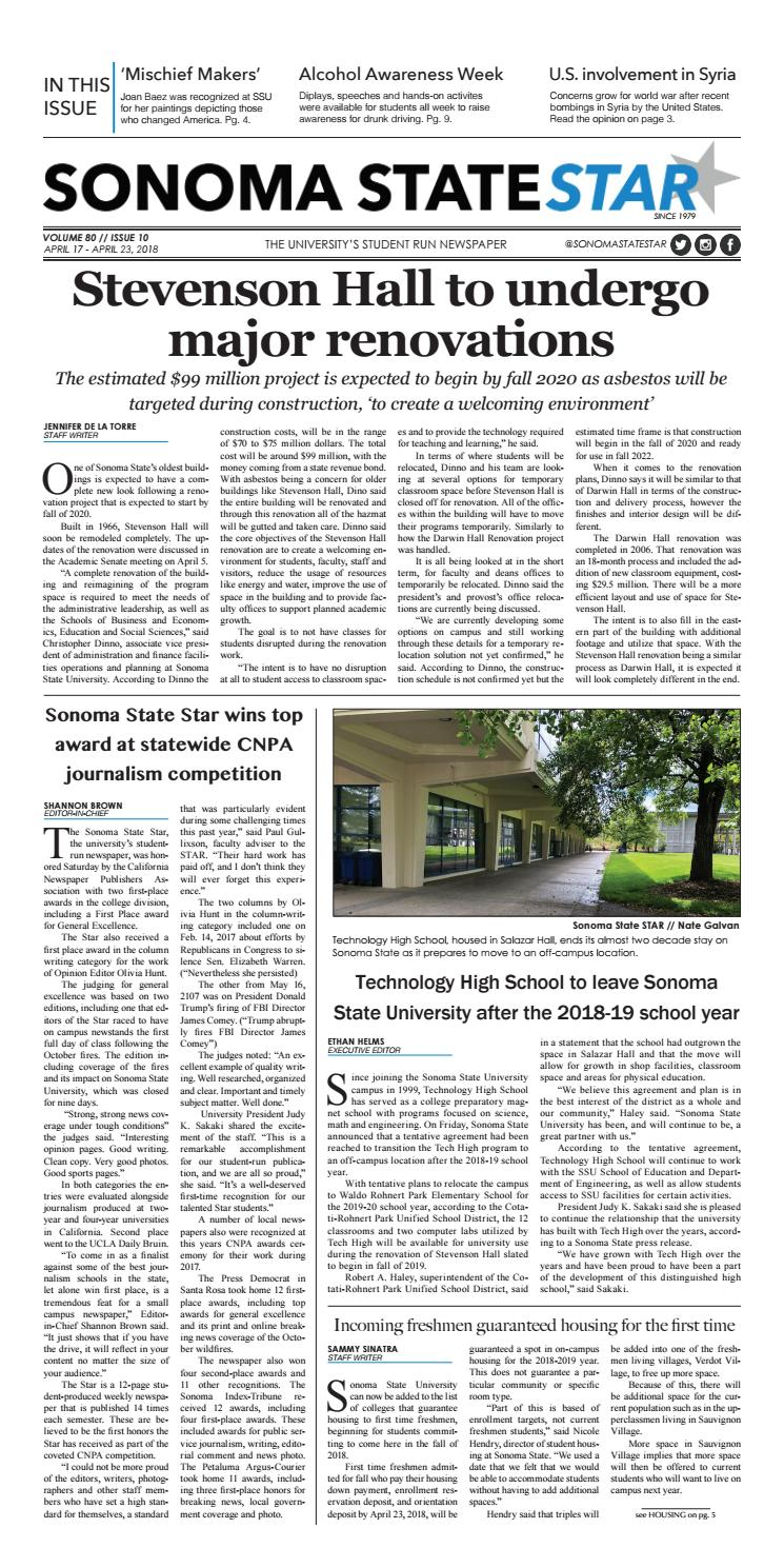 Volume 80 // Issue 10 by Sonoma State STAR - issuu