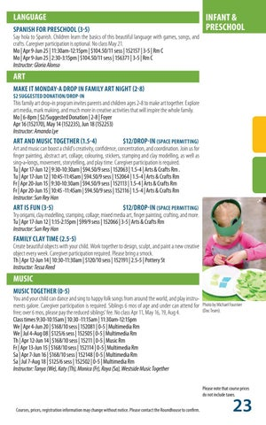 Page 23 of Programs - Infant & Preschool