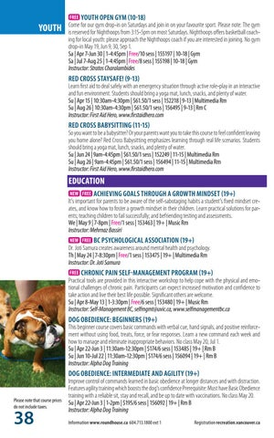 Page 38 of Programs - Adult