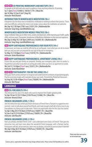 Page 39 of Programs - Adult