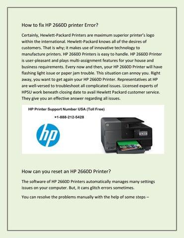 How to fix HP 2660D printer problem? by rose mac - issuu