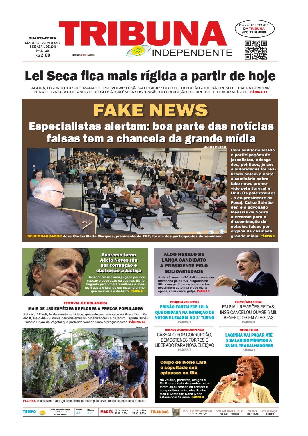 e95801096d Edição número 3126 - 18 de abril de 2018 by Tribuna Hoje - issuu