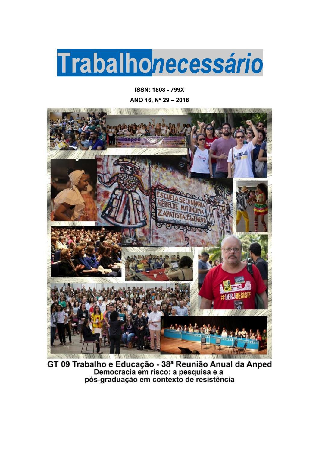 0aac4f8b20 Revista TrabalhoNecessário Nº 29 by Revista Trabalho Necessário - issuu