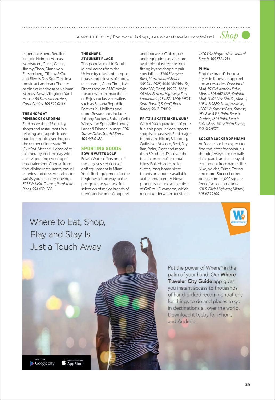 6cd318e2eea7 Where Magazine Miami May 2018 by Morris Media Network - issuu