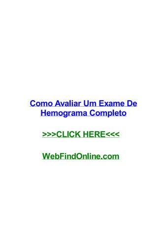 Interpretar hemograma online dating