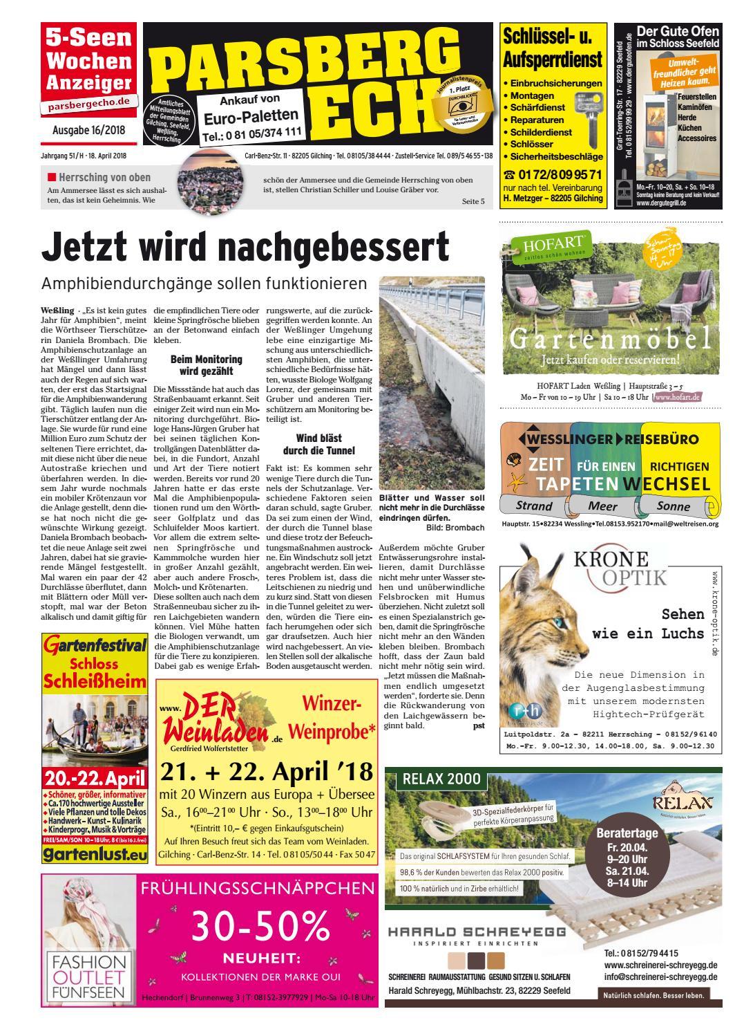 KW 16-2018 by Wochenanzeiger Medien GmbH - issuu