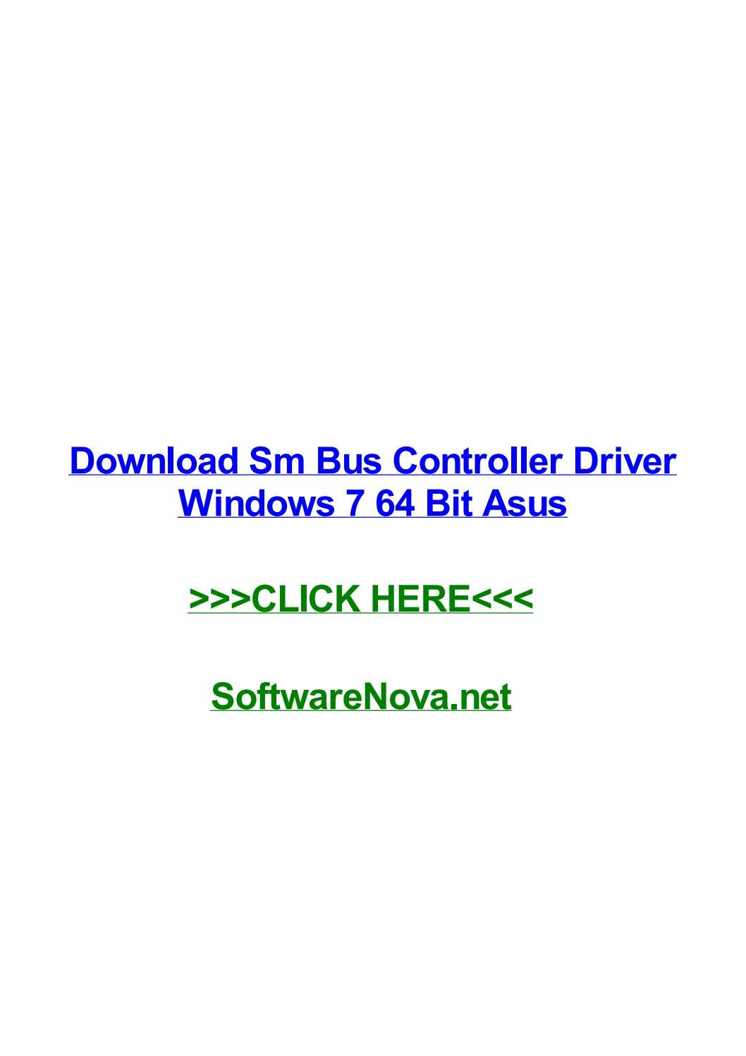 controleur de bus sm windows 7 64 bits asus