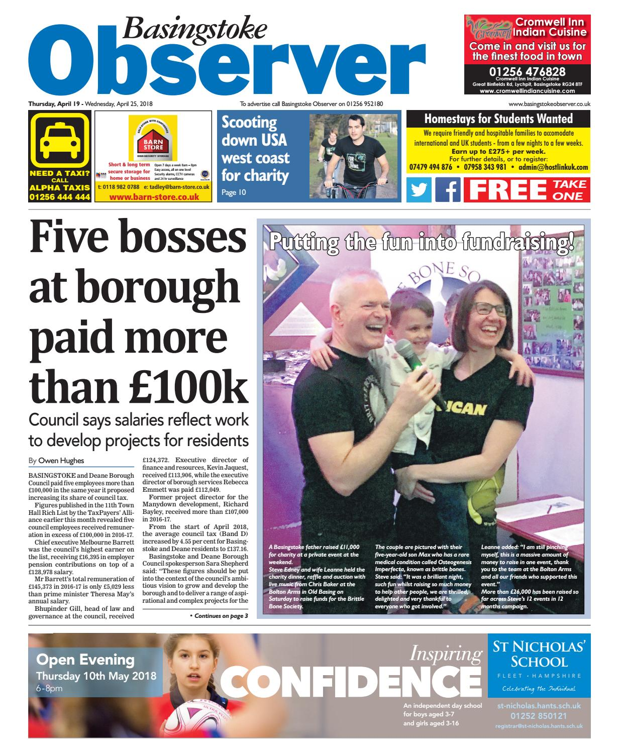 33854c55d28 19 april 2018 basingstoke observer by Taylor Newspapers - issuu