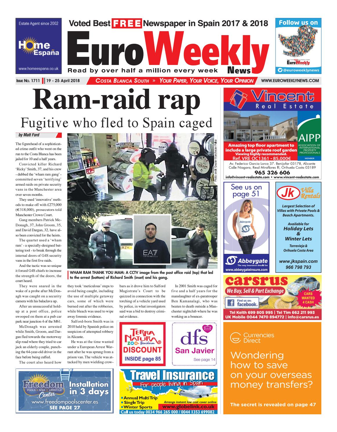 7cc5bb5353422 Euro Weekly News - Costa Blanca South 19 – 25 April 2018 Issue 1711 ...