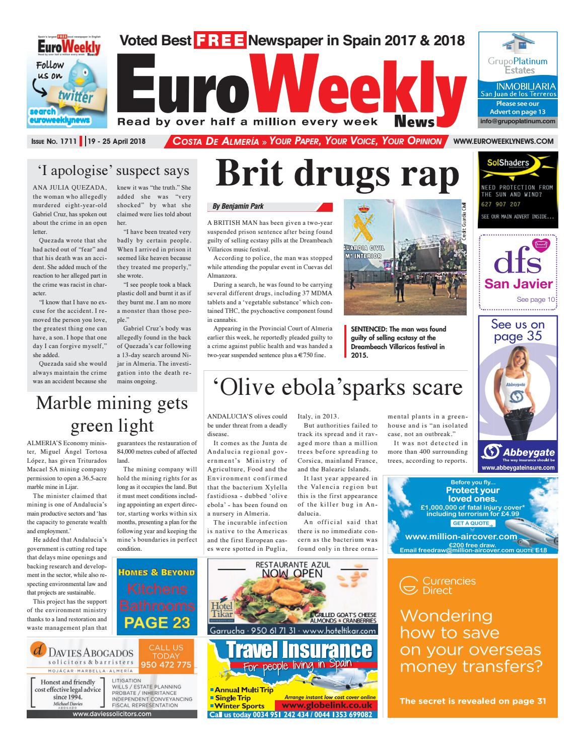 c454673de2a Euro Weekly News - Costa de Almeria 19 – 25 April 2018 Issue 1711 by Euro  Weekly News Media S.A. - issuu