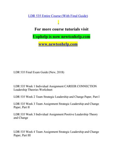 LDR 535 Learn/newtonhelp.com by birdofp.aradisebo.ttlebrush - issuu