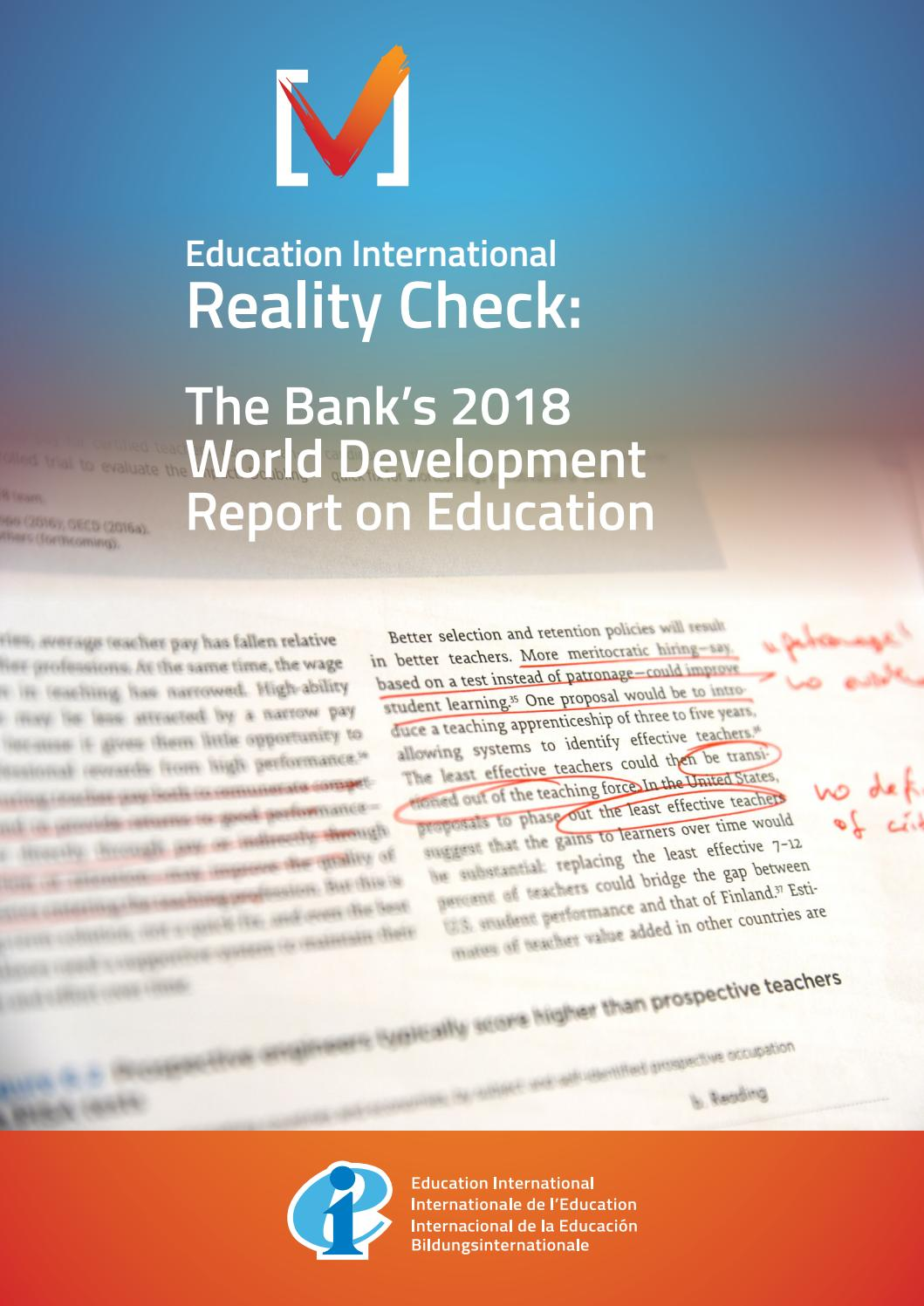 WDR 2018 Reality Check by Education International - issuu