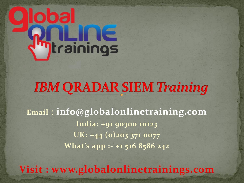 IBM QRadar SIEM Training | Security QRadar SIEM Online