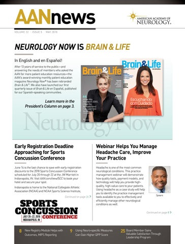 2018 May AANnews by American Academy of Neurology - issuu