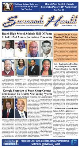 Savannah Herald Newspaper (4-18-18) by Savannah Herald