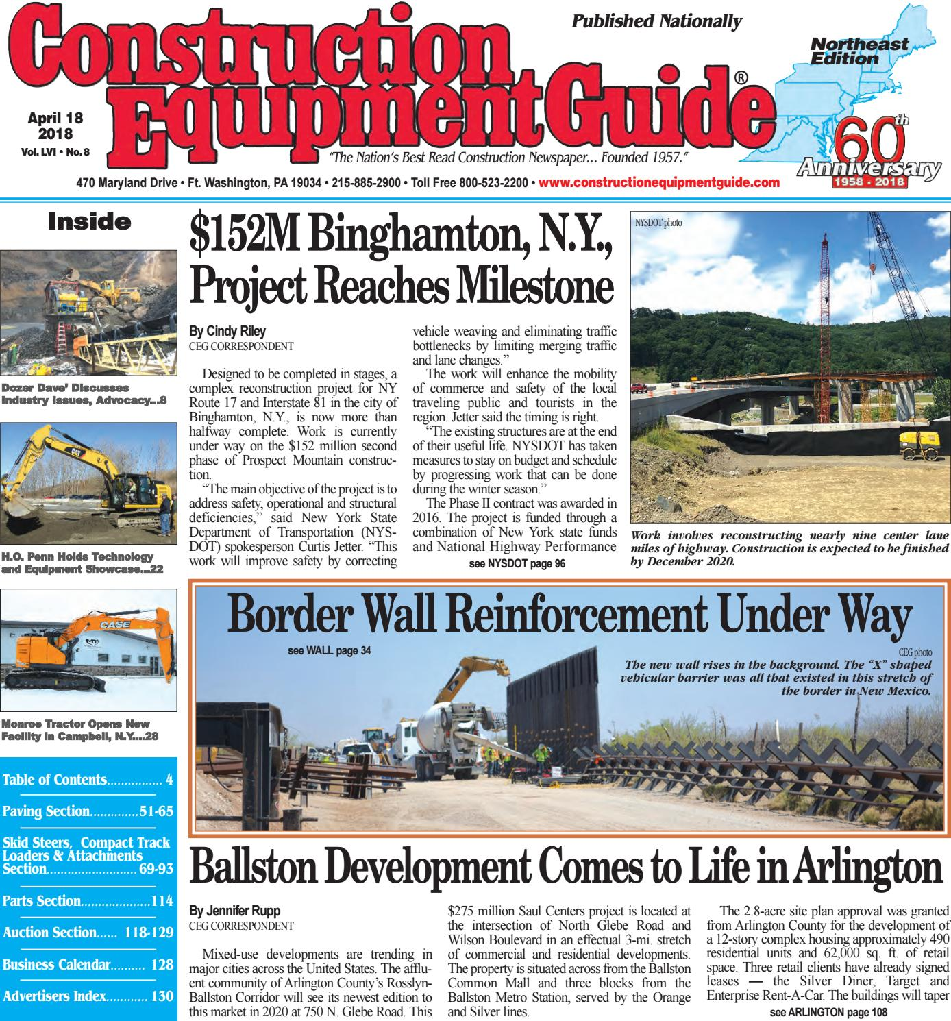 Northeast 8 April 18 2018 By Construction Equipment Guide Issuu Gardner Bender Circuit Tester L M Fleet Supply