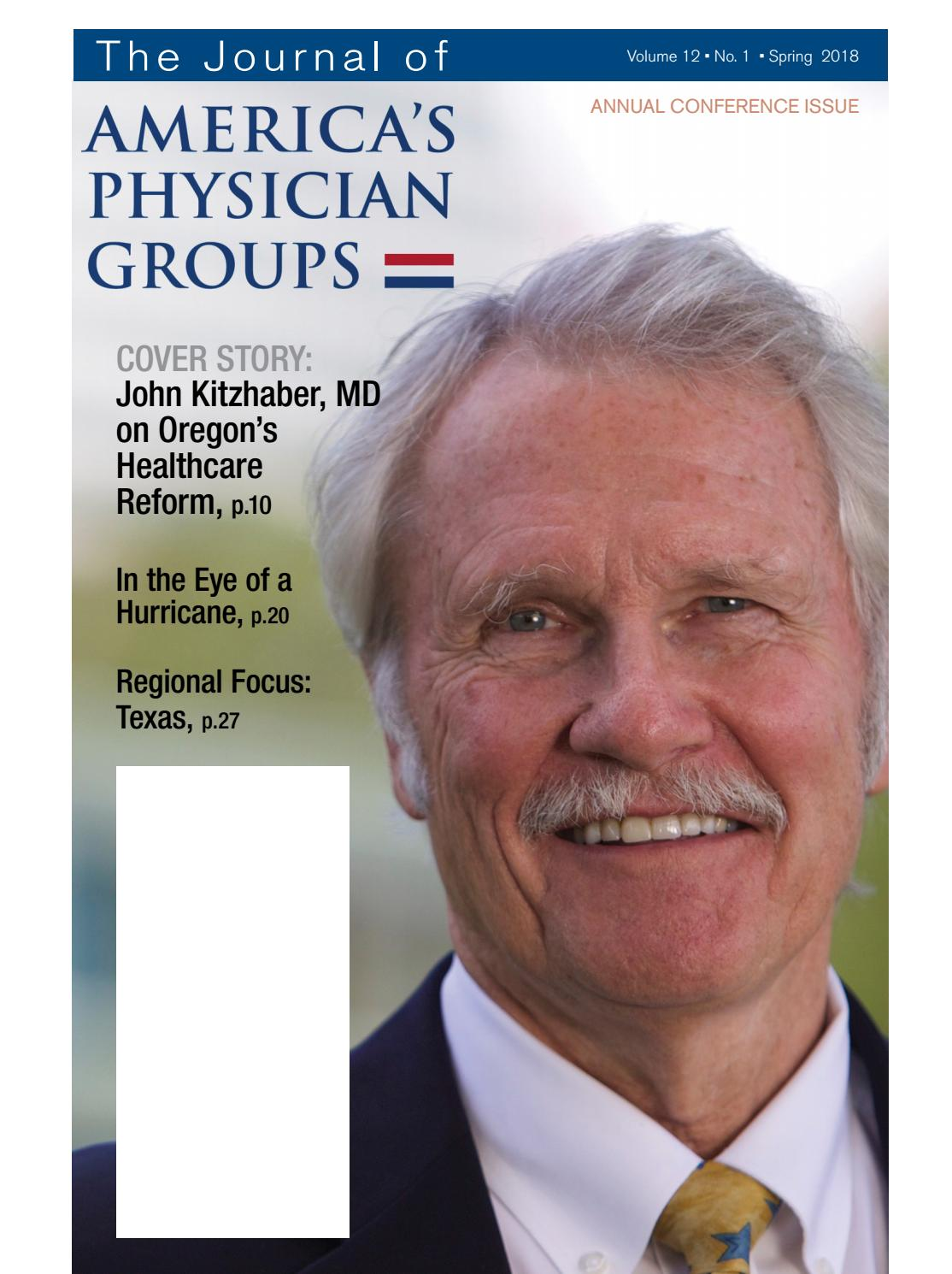 Journal of America's Physician Groups Conference Issue 2018