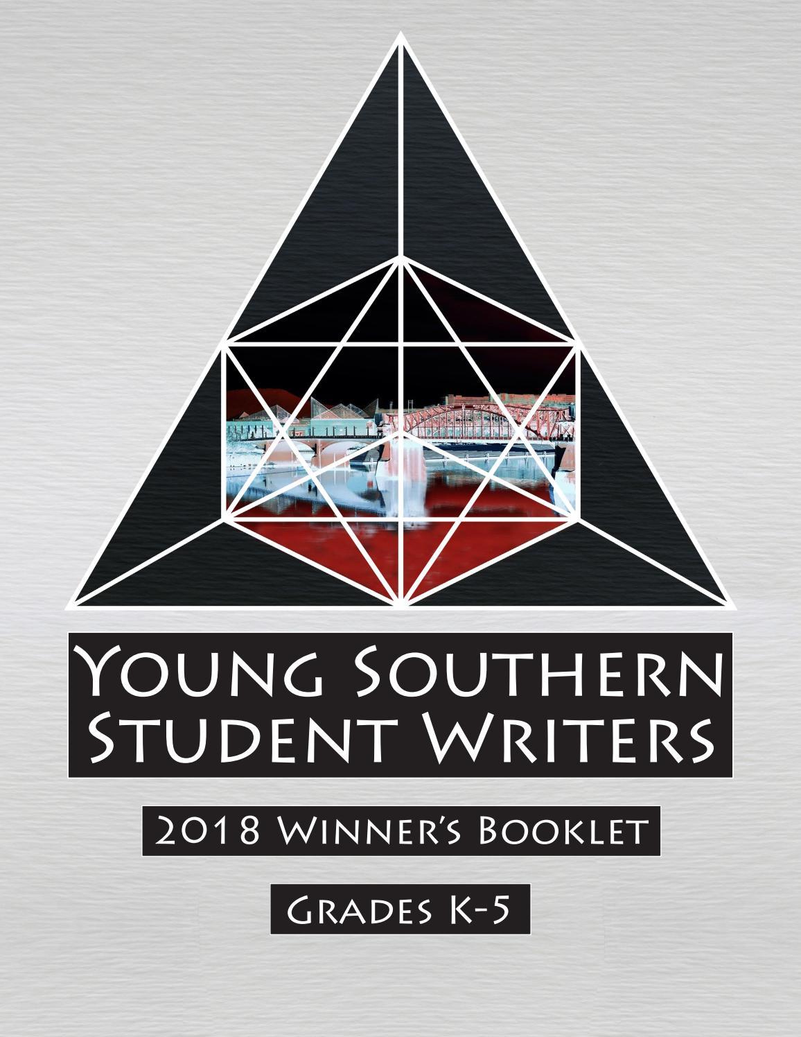 a08c6351 Young Southern Student Writers - Winners 2018 by Joe Wilferth - issuu