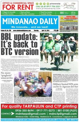 Mindanao Daily (April 19, 2018)