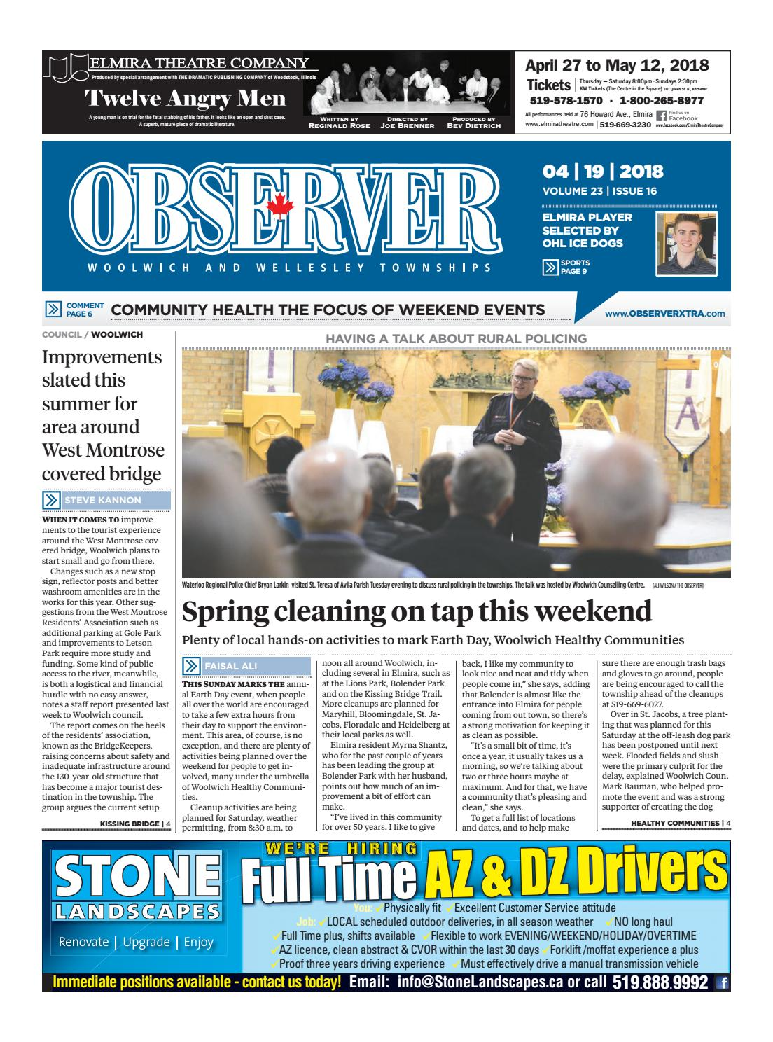 April 19, 2018 by Woolwich Observer - issuu