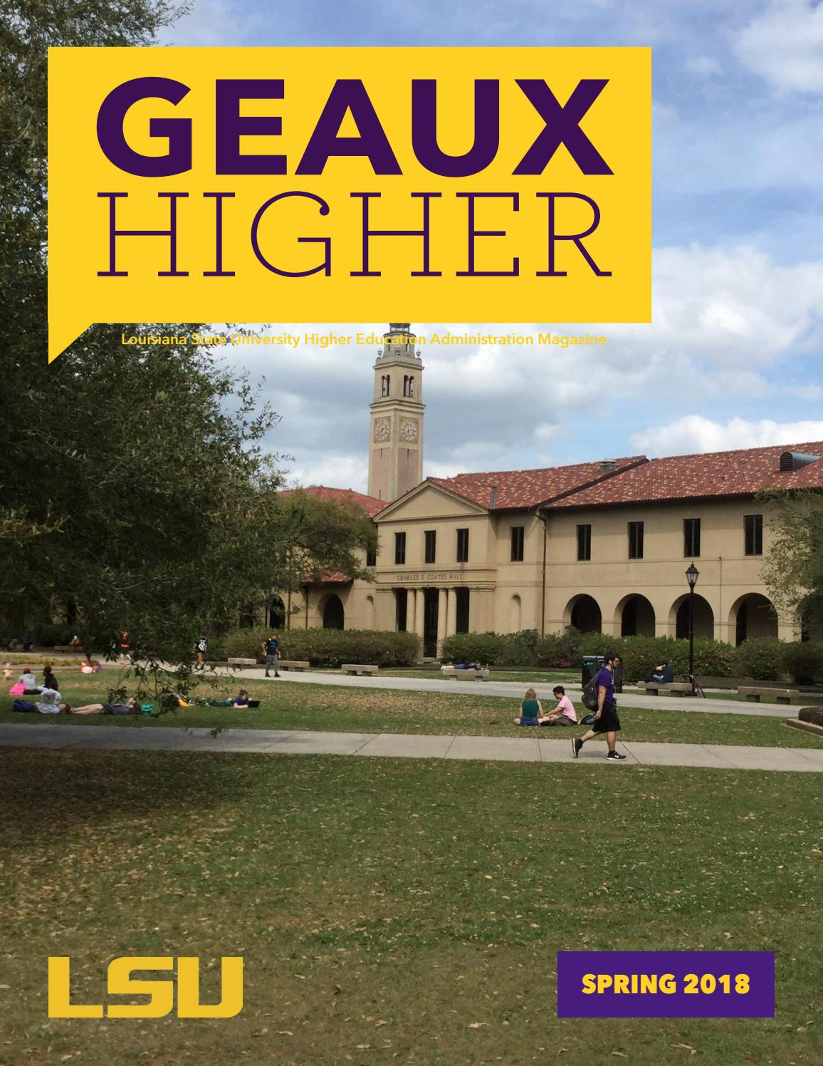 2ff0ae8ff 2018 Geaux Higher by LSU College of Human Sciences   Education - issuu