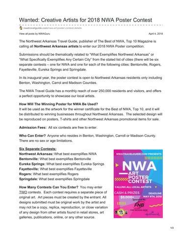 Northwest Arkansas Art Poster Contest 2018 by Best of