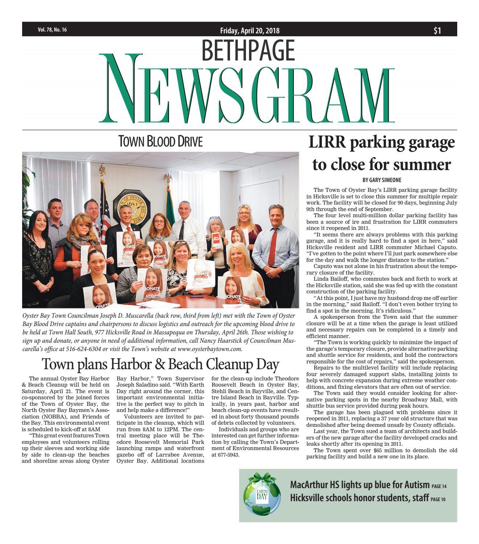 Bethpage Newsgram (4/20/18) by Litmor Publishing - issuu