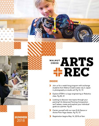 City Of Walnut Creek Guide To Arts Rec Summer 2018 By City Of