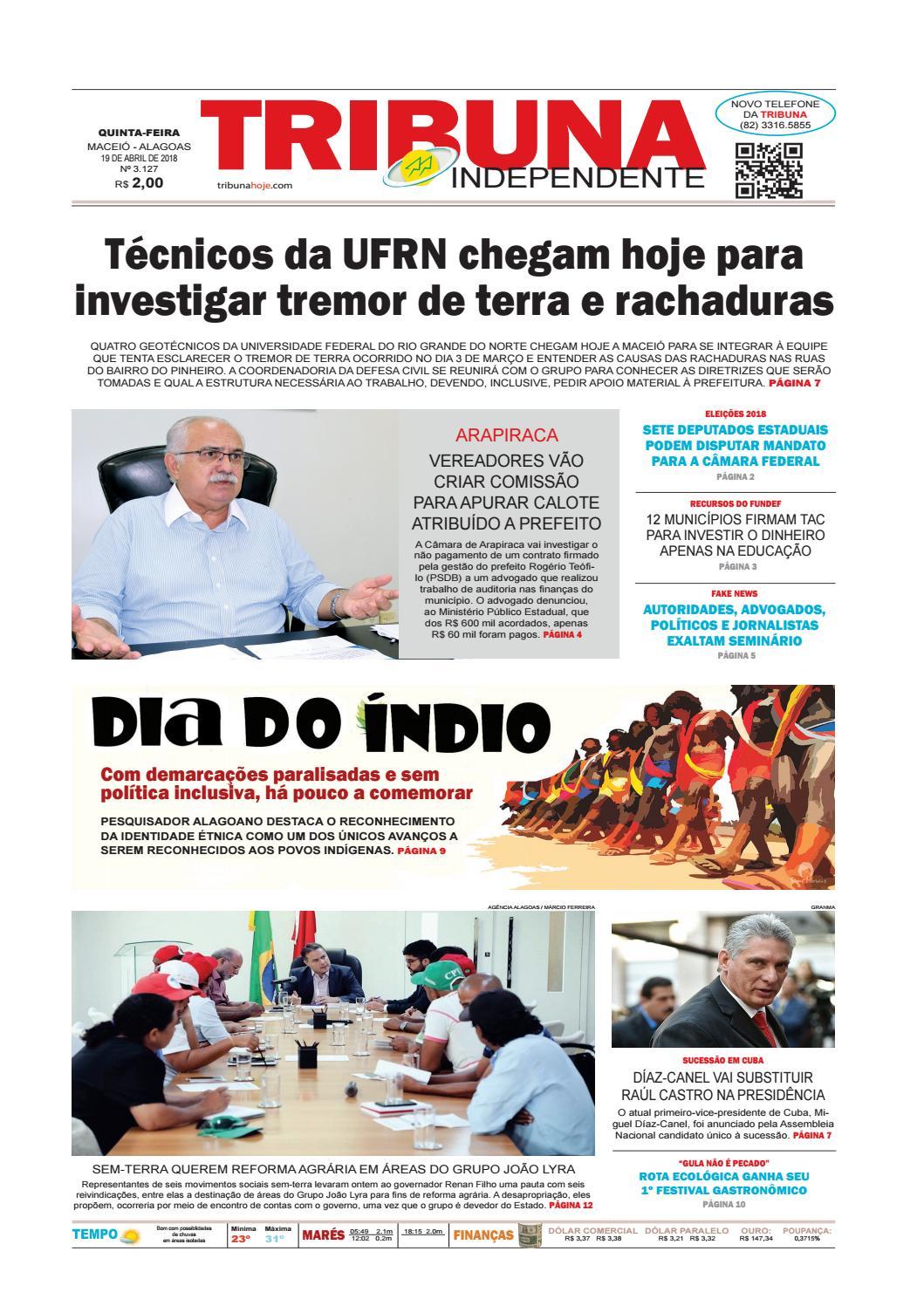 6422b6cdc Edição número 3127 - 19 de abril de 2018 by Tribuna Hoje - issuu