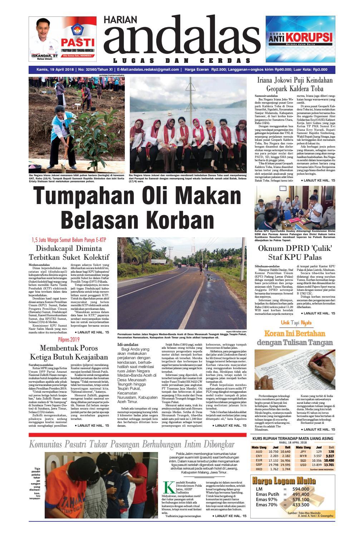 Epaper Andalas Edisi Kamis 19 April 2018 By Media Andalas Issuu