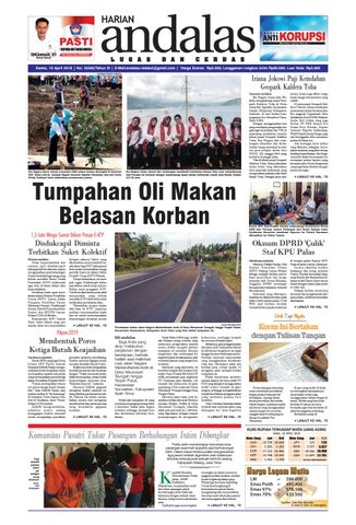 Epaper Andalas Edisi Kamis 19 April 2018 By Media Andalas Issuu
