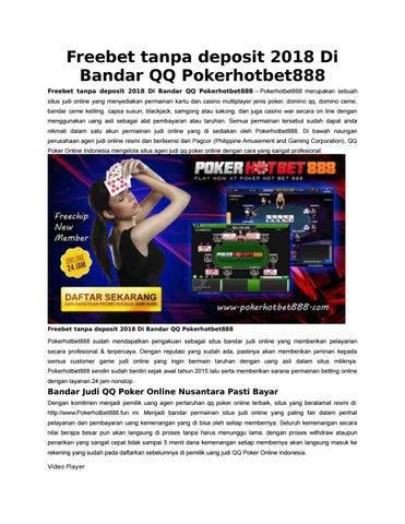 Freebet Tanpa Deposit 2018 Di Bandar Qq Pokerhotbet888 By Hotbet888 Issuu