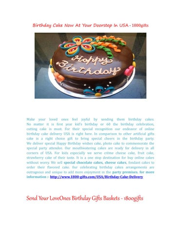 Birthday Cake Now At Your Doorstep In USA