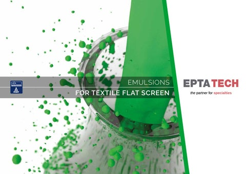 EPTATECH – Photoemulsions for Textile flat screen by