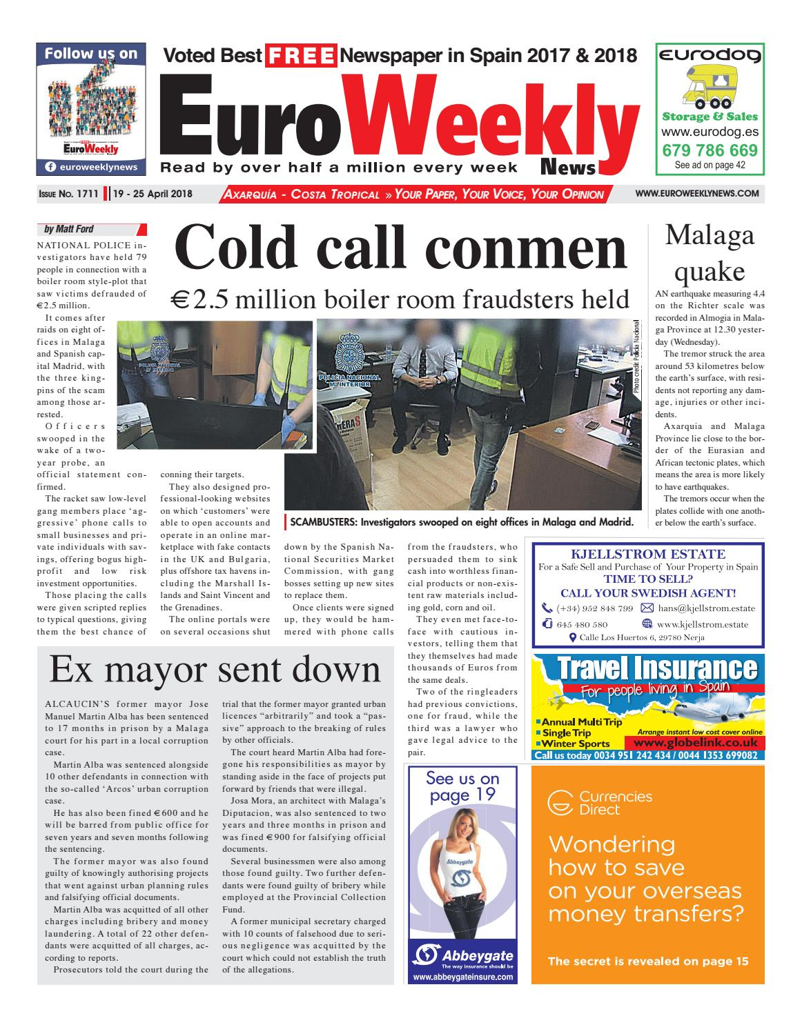 Euro Weekly News Axarquia 19 25 April 2018 Issue 1711 By Euro Weekly News Media S A Issuu