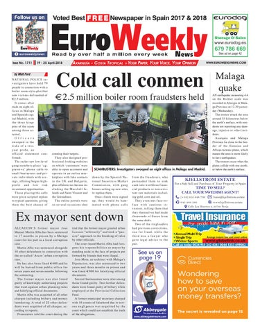 83205397cb5bd9 Euro Weekly News - Axarquia 19 – 25 April 2018 Issue 1711 by Euro ...