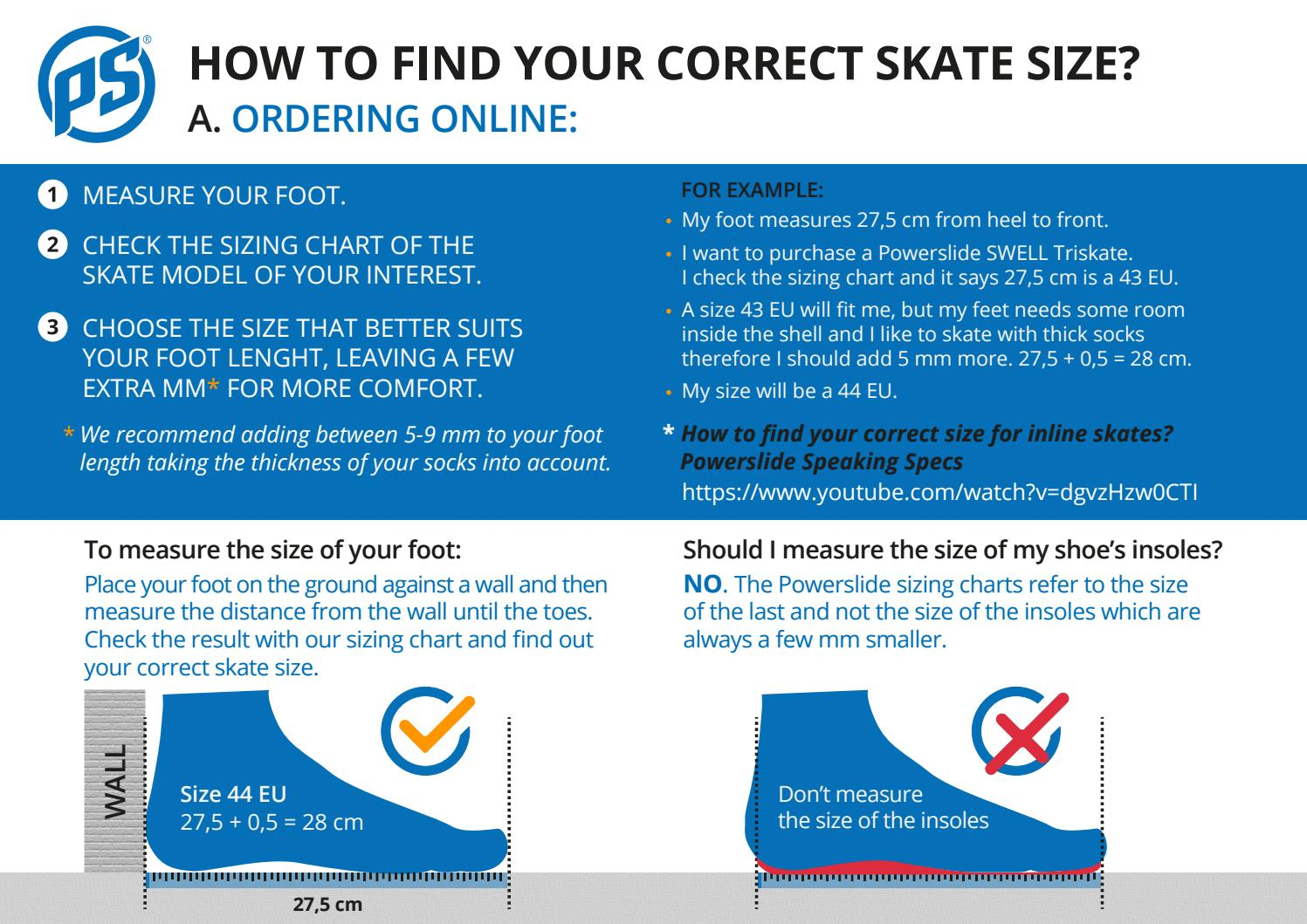 Find Your Skate Size By Powerslide Issuu